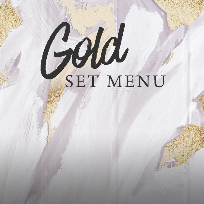 Gold set menu at The Kings Arms