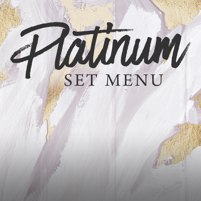 Platinum set menu at The Kings Arms