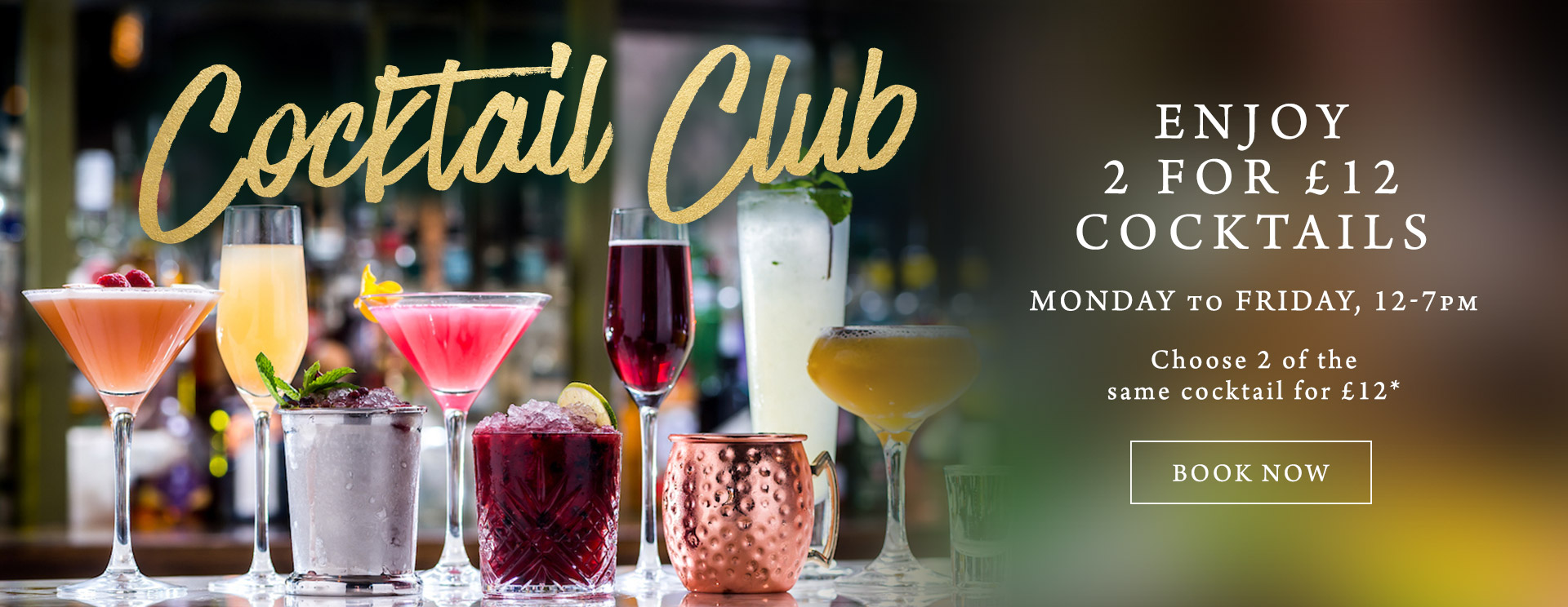 2 for £12 cocktails at The Kings Arms